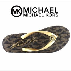 Michael Kors Signature logo flip flops sandals